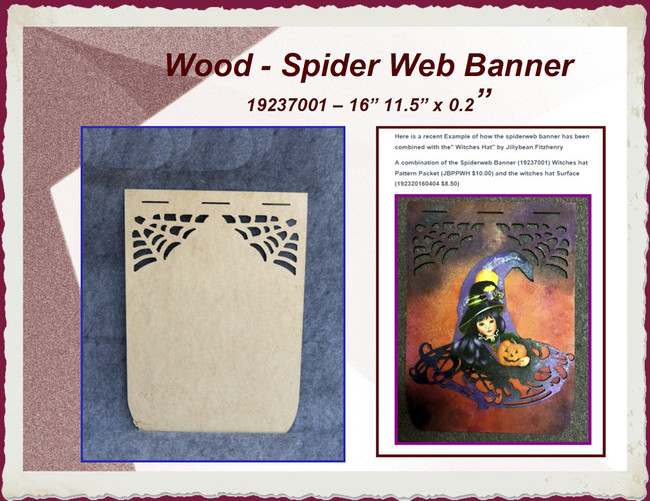 "Wood - Spider Web Banner 16"" x 11.5"" x 1/8 (19237001)"