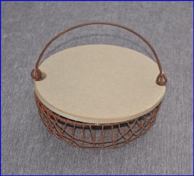 Basket - Round Wire Mesh Basket W/Lid (1205899)