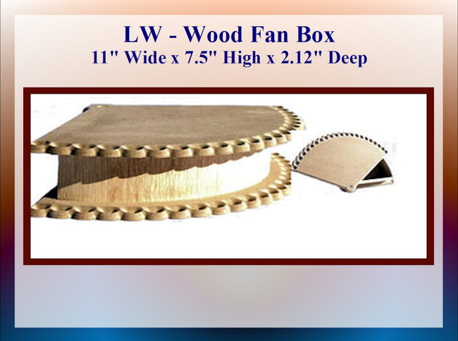 "LW - Fan Box 11"" Wide x 7.5"" High x 2.12"" Deep (224108)"