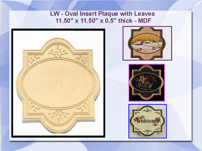 LW - Plaque Leaf with Oval Insert (16125)
