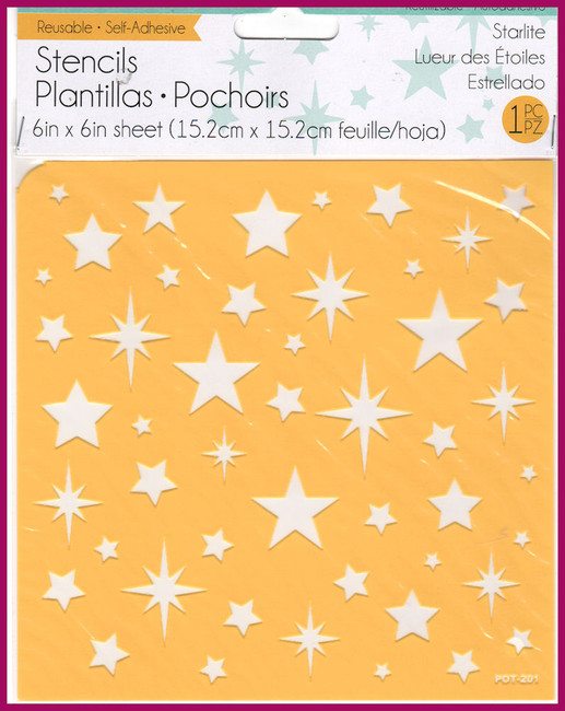 "Starlite Stencul 6"" x 6"" Self Adhesive and Reuseable"