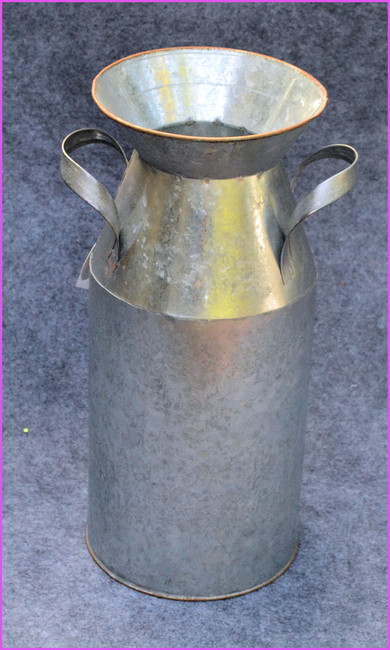 Silver Metal Milk Can