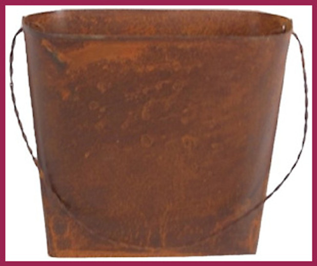 "Metal - Rustic Mini Wall Bucket 4.5"" (T0076)"