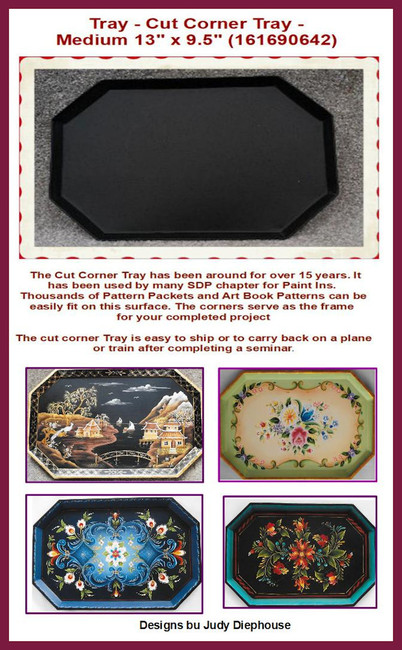 "Tray - Cut Corner Tray -Medium 13"" x 9.5""  (161690642)"
