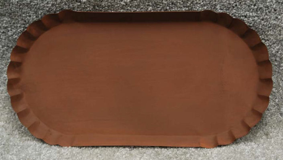Tray - Oval Rusty Metal Pan (1205652)
