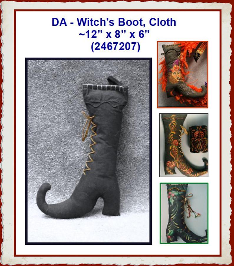 """DA - Witch's  Boot, Cloth  ~12"""" x 8"""" x 6"""" (2467207)"""