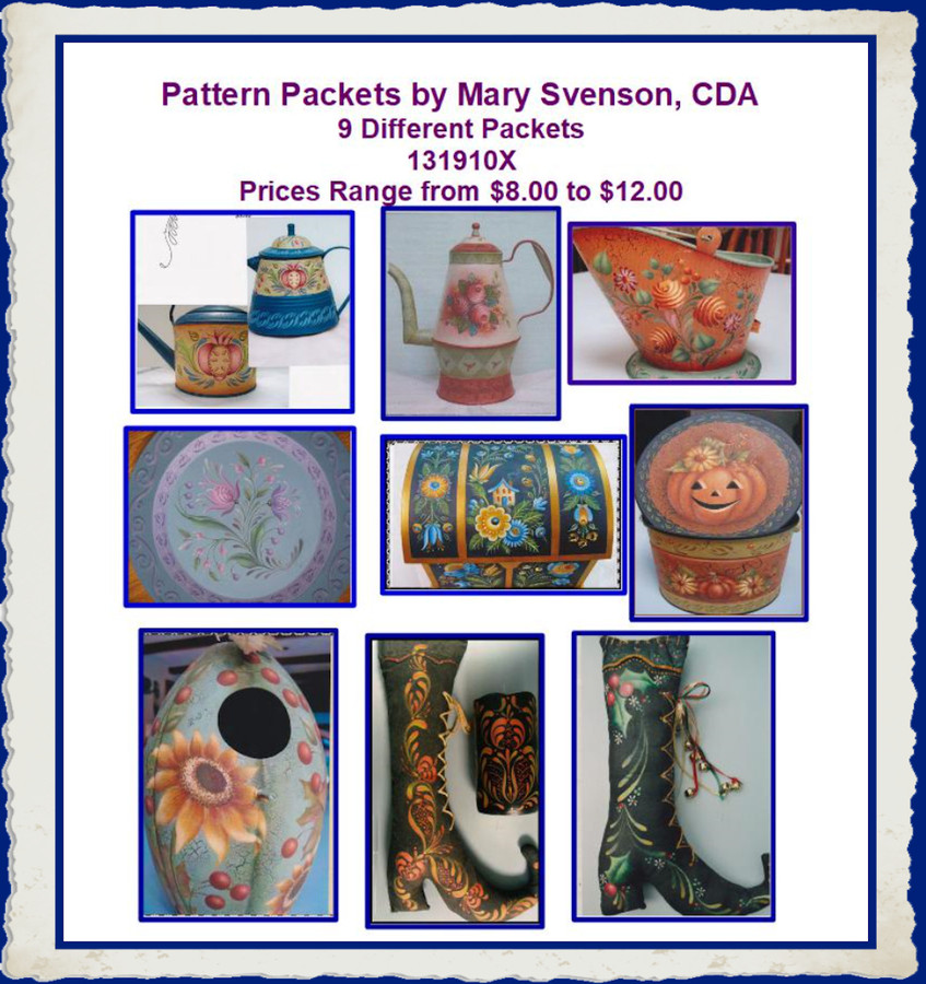 Pattern Packets - Mary Svenson, CDA 131910X