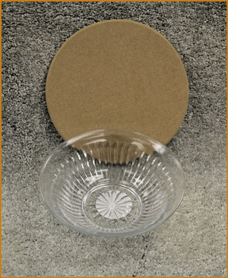 """Glass Bowl with 7"""" MDF Lid"""