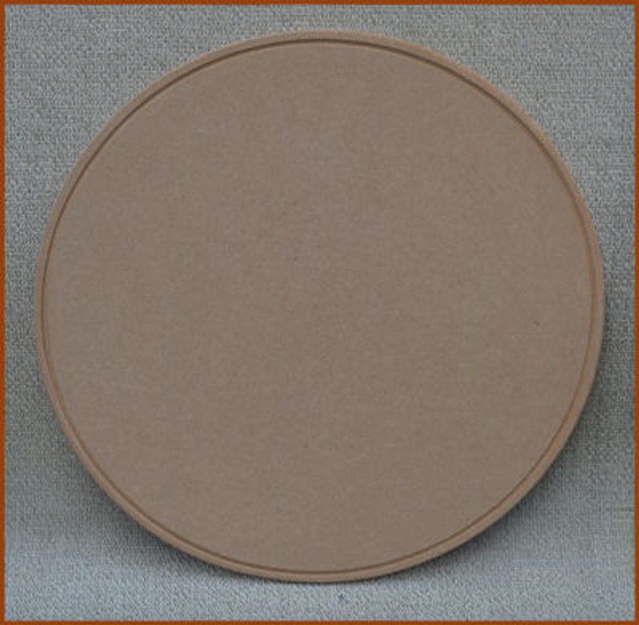 """Wood - 14"""" Round MDF Piece with Beaded Ring (1923201602B)"""