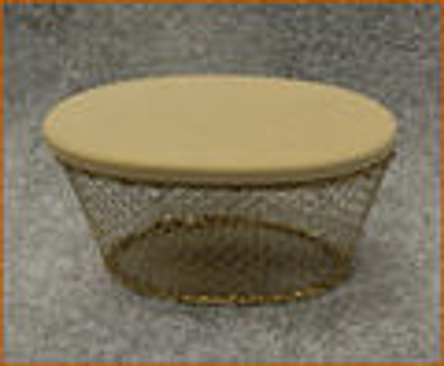 Basket - Small Gold Oval Wire Basket (117730)