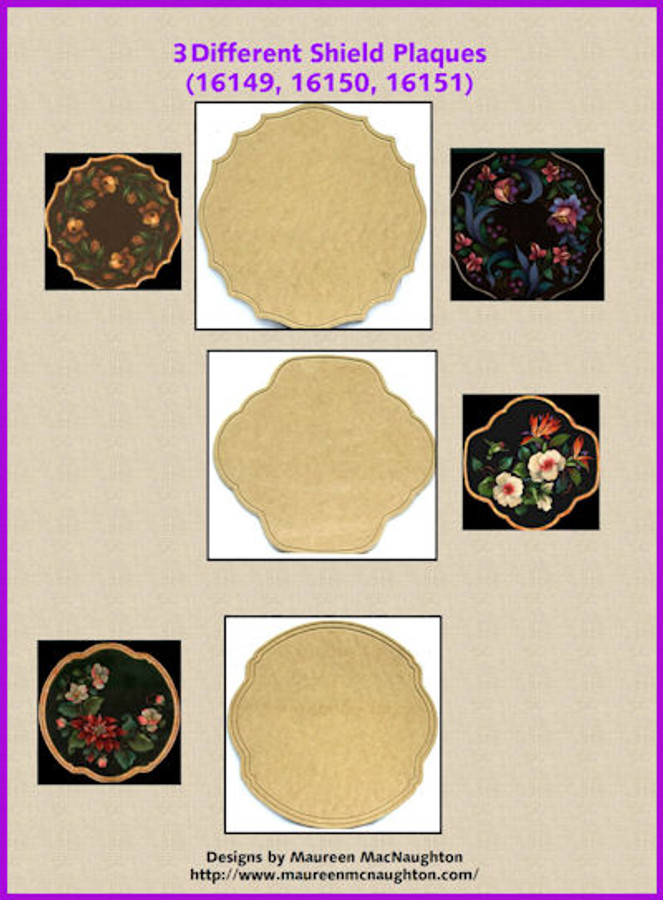 LW - 3 Different Shield Plaques (16149, 16150, 16151)