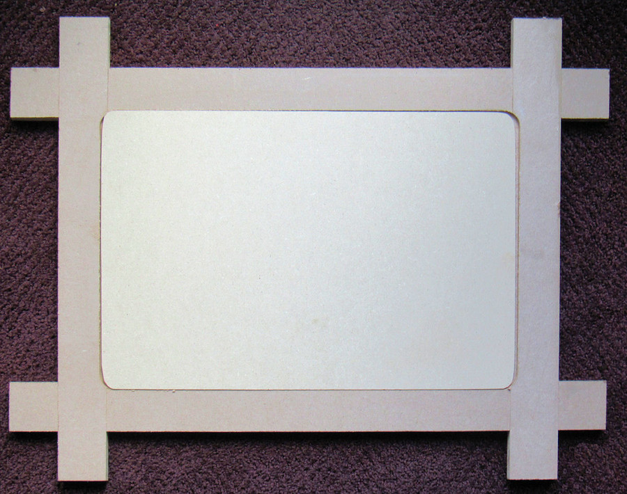 """The Frame is 25"""" x 20"""" x 0.5"""" The Insert is 16"""" x 12"""""""
