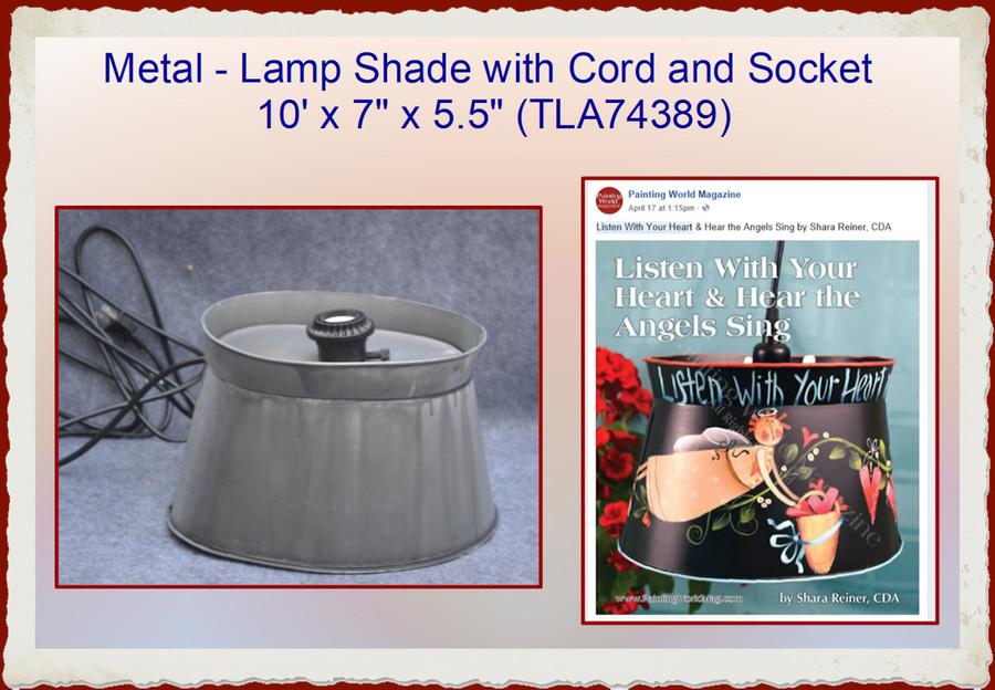 "Metal -  Lamp Shade  with Cord and Socket  10' x 7"" x 5.5"" (TLA74389)"
