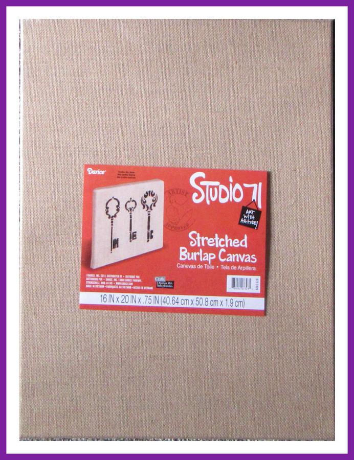"""PT- Stretched Burlap Canvas 20"""" x 16"""" (8909207323)"""