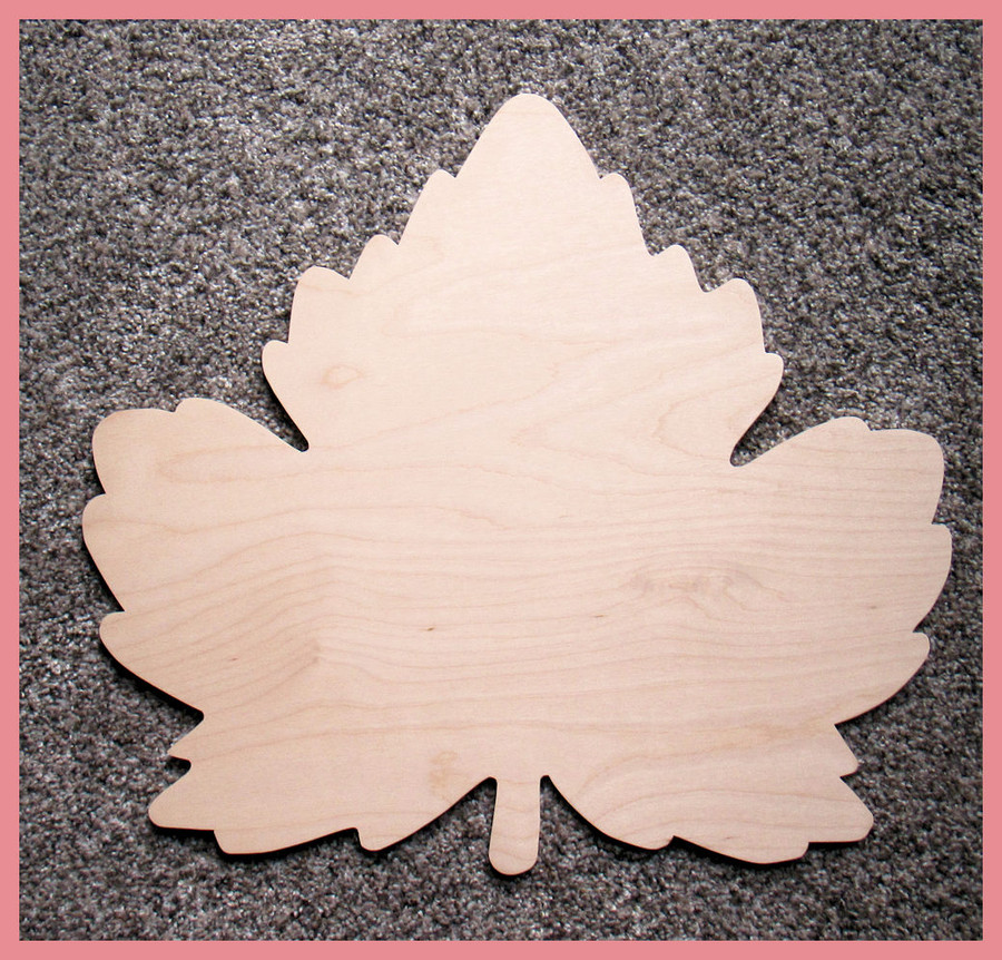 "Wood - Leaf Cut Out ~ 16"" x 15"" (12020170907)"