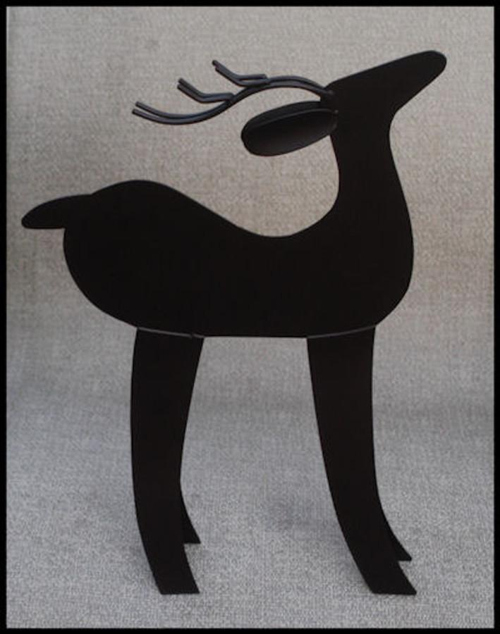 """Metal - Reindeer ` 15"""" x 11"""" x 2"""" (RD1001)"""