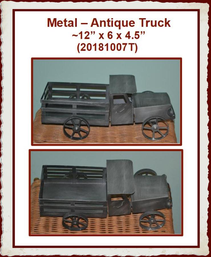"Metal – Antique Truck ~12"" x 6 x 4.5"" (20181007T)"