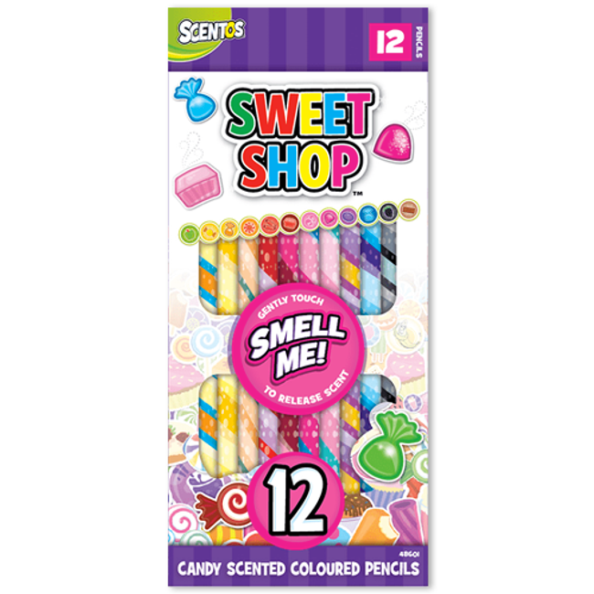 Sweet Shop Candy Scented Colored Pencils - 12 Count
