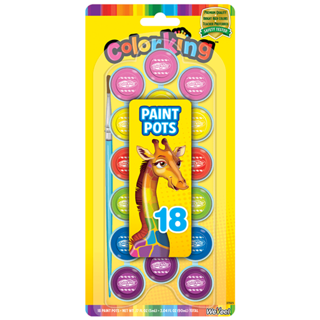 ColorKing Paint Pots - 8 Count