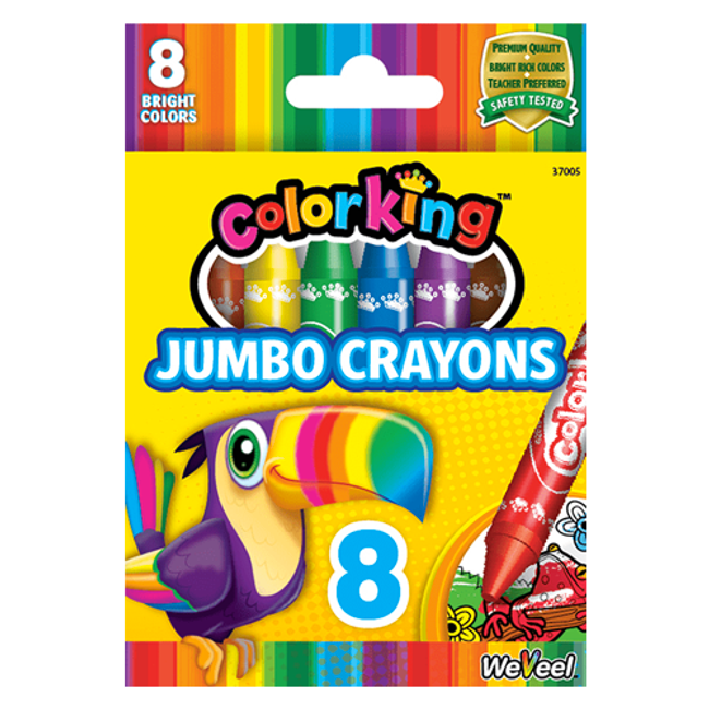 ColorKing Jumbo Crayons - 8 Count