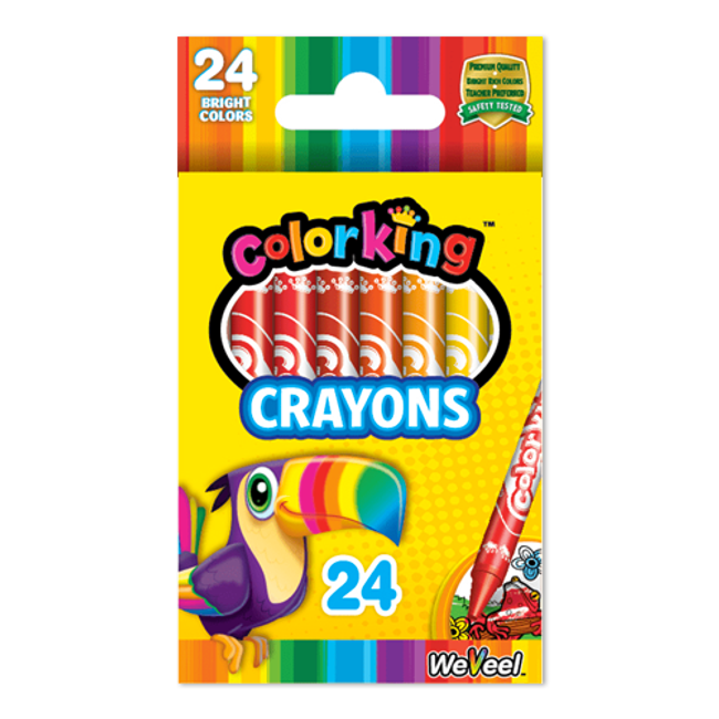 ColorKing Crayons - 24 Count
