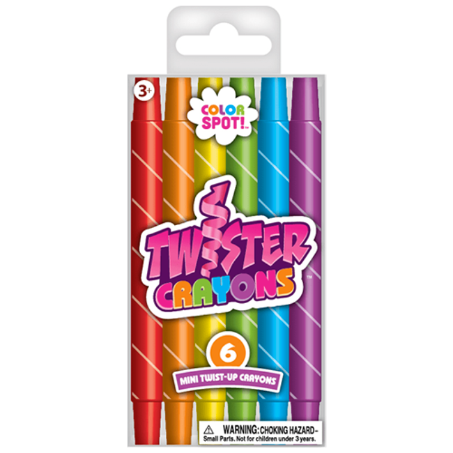 Color Spot Mini Twister Crayons - 6 Count
