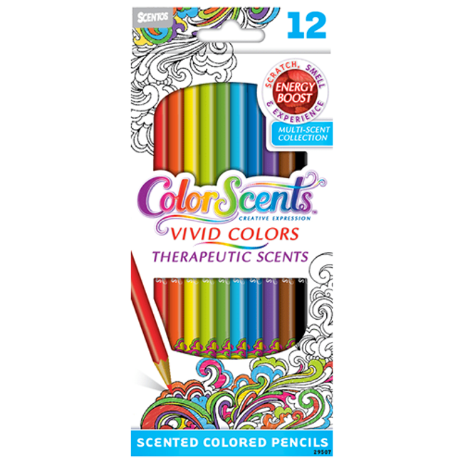 ColorScents Scented Colored Pencils - Energy Boost - 12 count