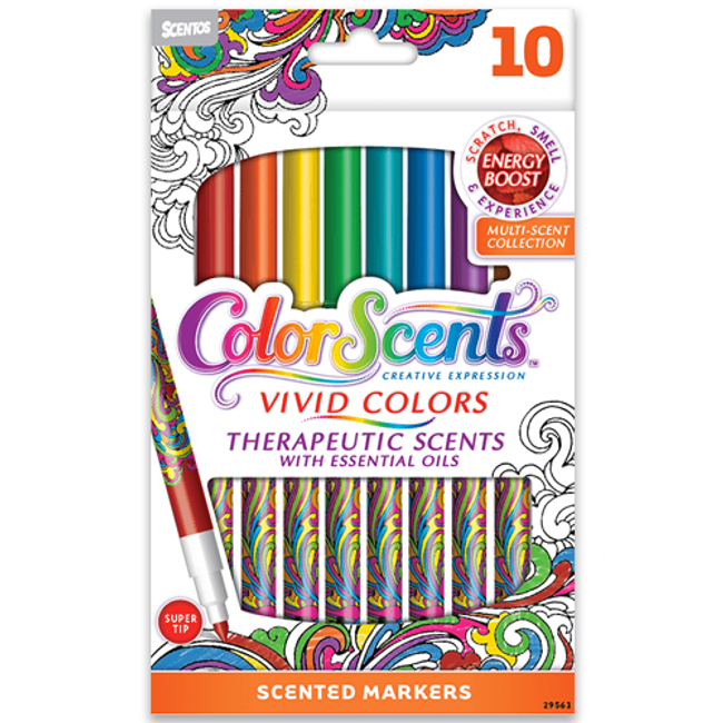 ColorScents Scented Super Tip Markers - Energy Boost - 10 Count