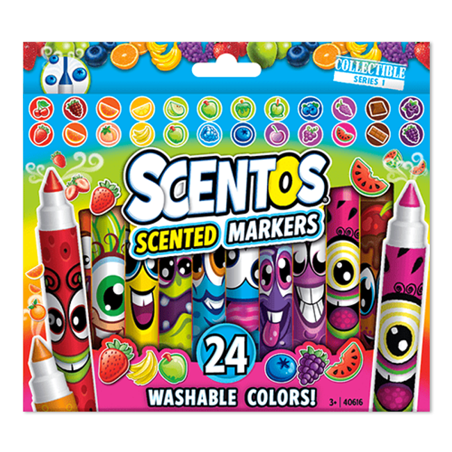 Scentos Classic Washable Scented Markers - 24 Count