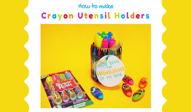 DIY Crayon Utensil Holder