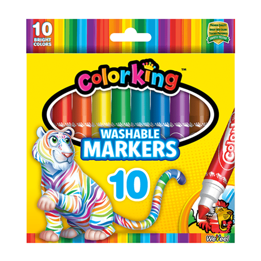 ColorKing Classic Washable Markers - 10 Count