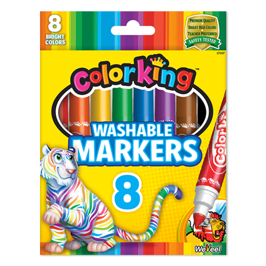 ColorKing Washable Markers - 8 Pack