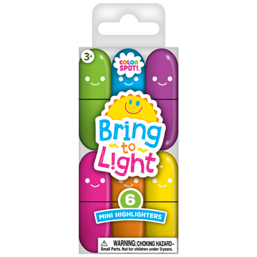 Color Spot Mini Highlighters - 6 Count