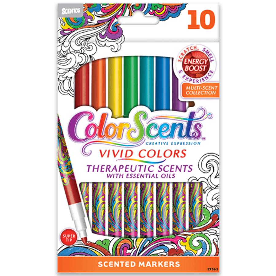 ColorScents Vivid Colors Scented Colored Pencils - 10 Count