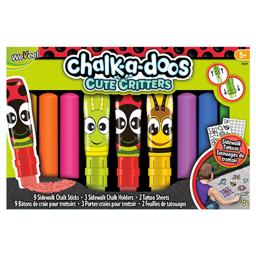 Chalk-A-Doos Sidewalk Chalk Tattoos Set - 14 Count