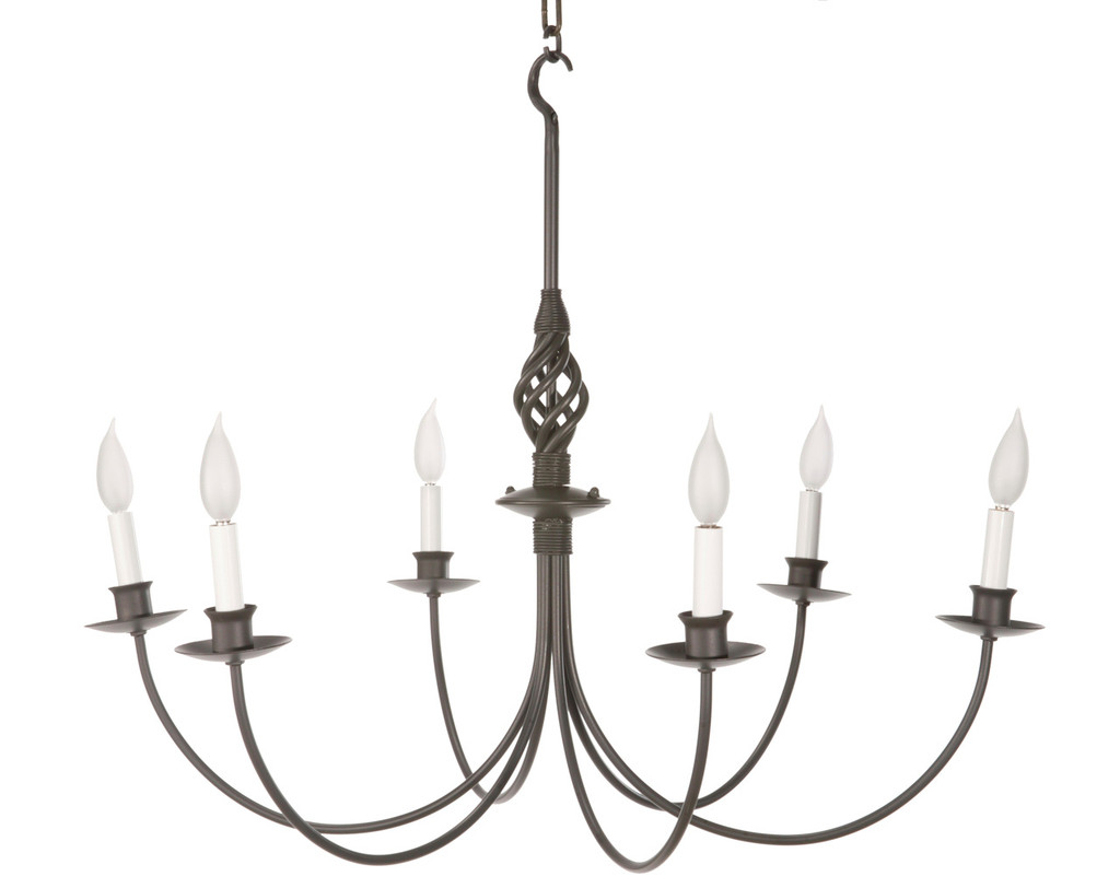 Black Iron Lighting Forged Iron Chandeliers