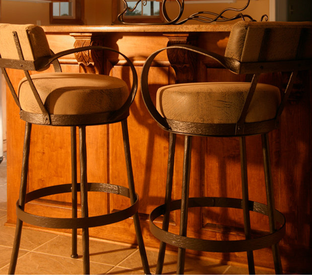 Cedarvale Iron Bar Stool (with Back and Arms)