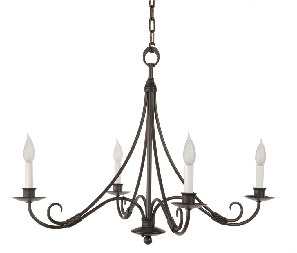 Sturbridge 4 Arm Iron Chandelier