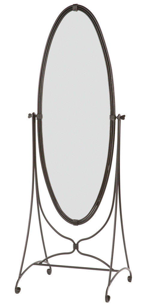 Queensbury Standing Oval Iron Mirror