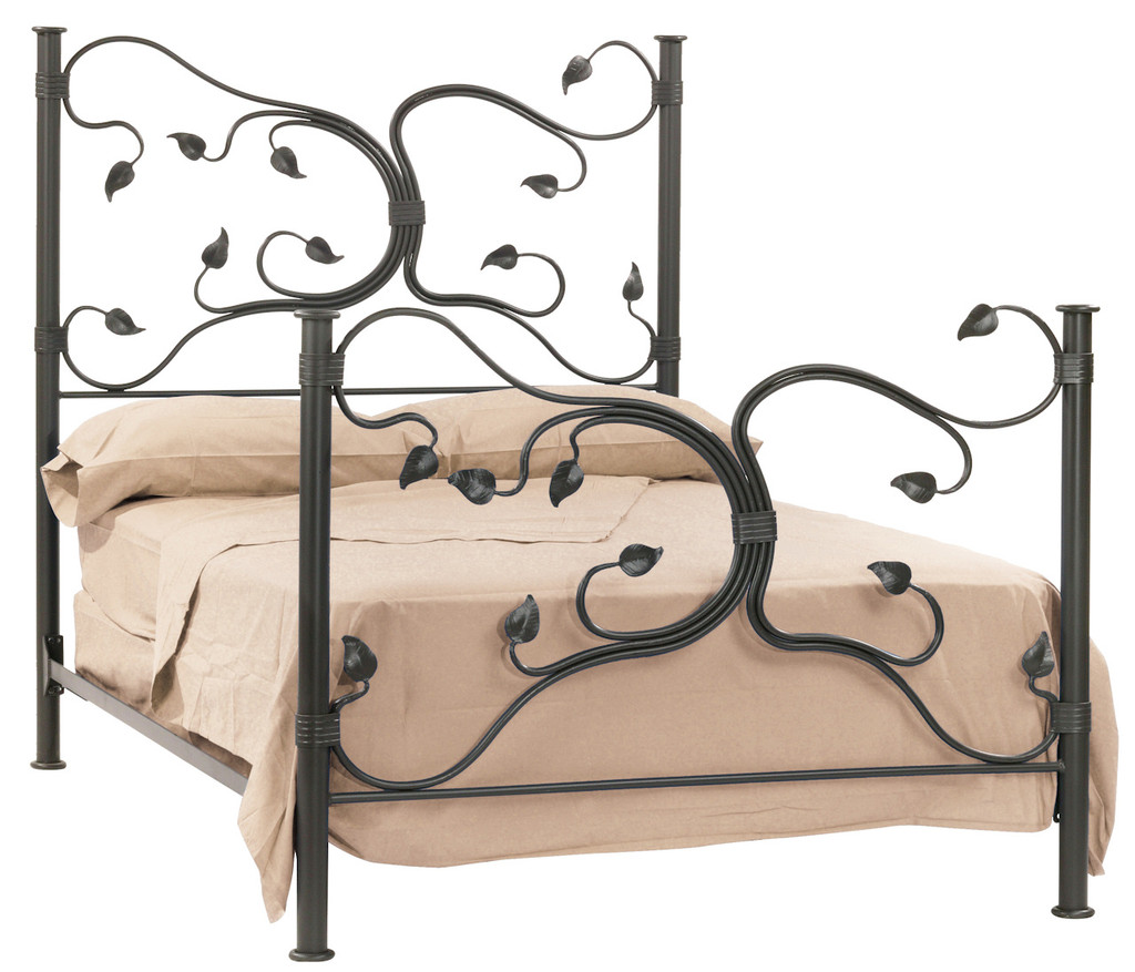 Eden Isle Hand Forged Iron Bed King Complete