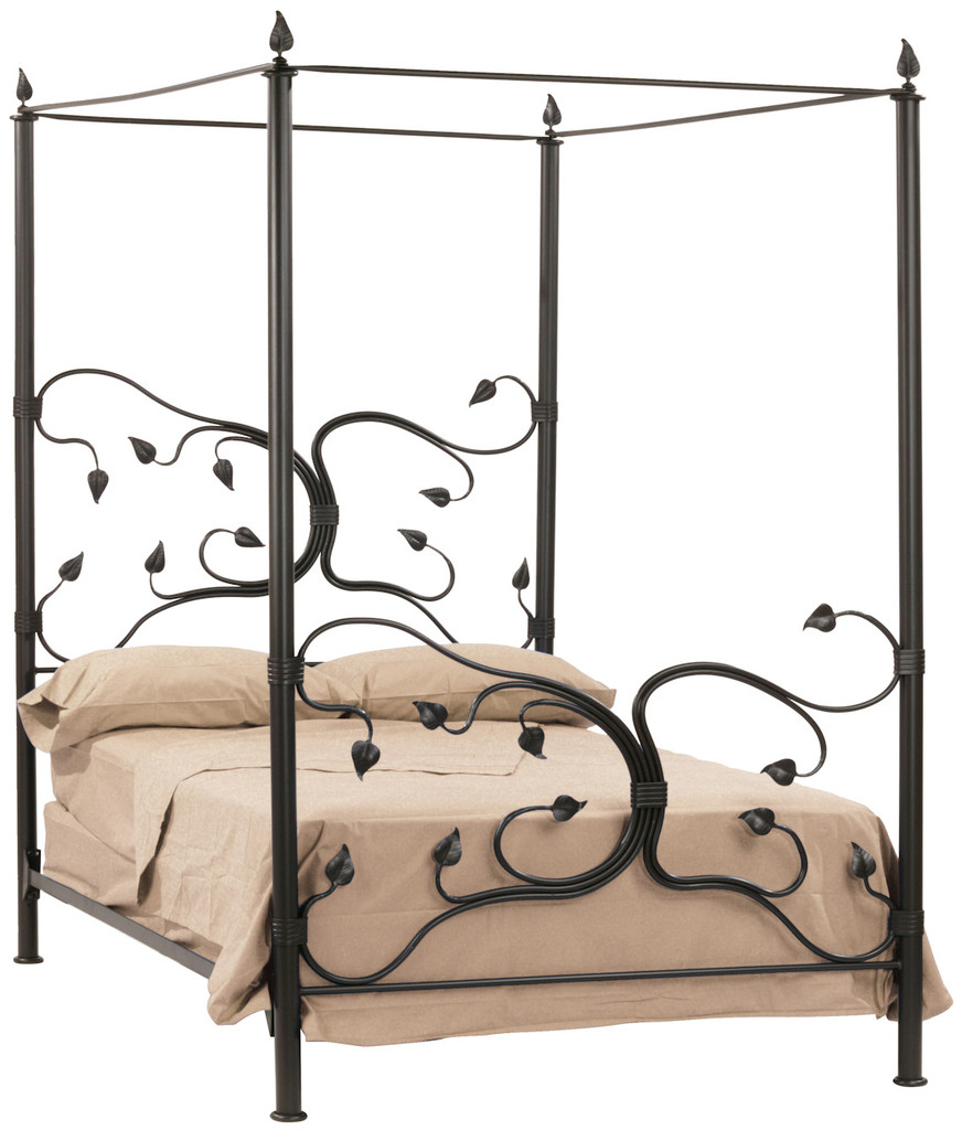 Eden Isle Iron Canopy King Bed  sc 1 st  Stone County Ironworks & Eden Isle Hand Forged Iron Canopy Bed King Complete