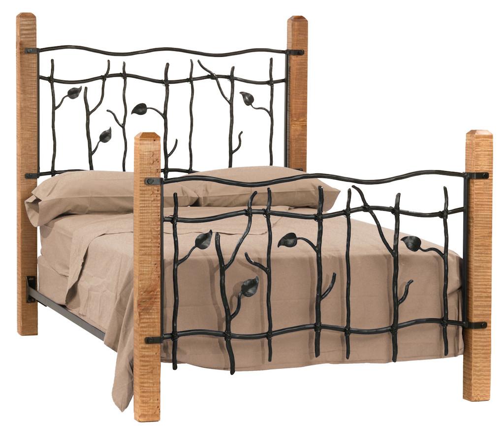 Sassafras Twin Iron Bed