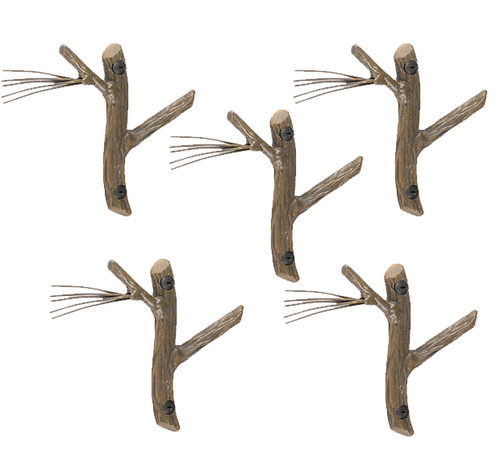 Pine Single Hooks- 5 Piece Set
