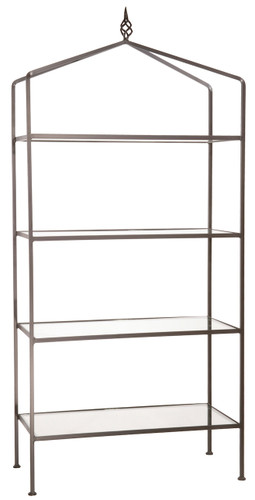 Iron Standing Shelf - Basketweave-4 Tier