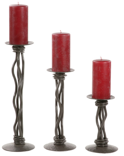 Rush Iron Renaissance Single Candle holder 16 inch