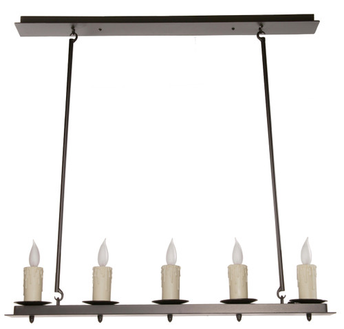 Nova Linear 5 Light Iron Chandelier