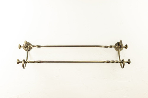 French Country Double Towel Bar  32""