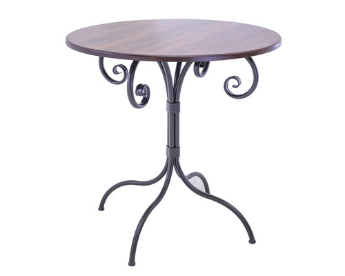 Iron bar tables iron pub table stone country ironworks waterbury 25 inch folding pub table 40 height watchthetrailerfo