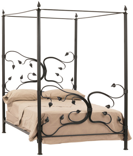 Eden Isle Iron Canopy Cal King Bed  sc 1 st  Stone County Ironworks & Eden Isle Hand Forged Iron Canopy Bed King Complete
