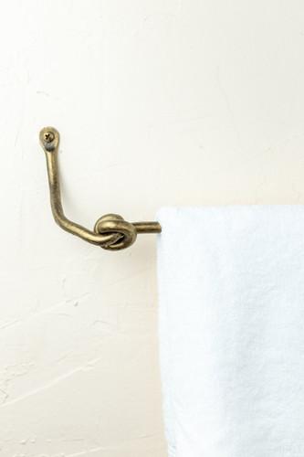 Knot Iron Towel Bar 16 Inch